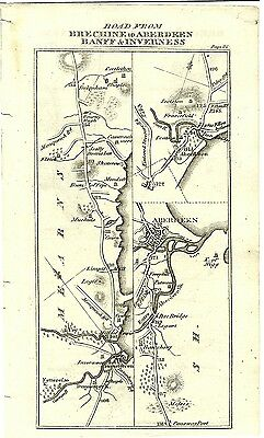 Antique map, Brechine to Inverness (2)
