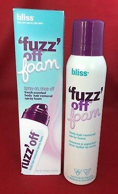 Bliss Fuzz Off Foam Fresh Scented Body Hair Removal Spray Foam 5.5 Oz NEW