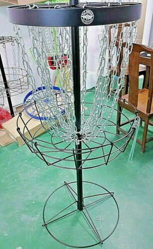 Fly Green Disc Golf Performance Pro Side Portable Practice Basket 24 Chains
