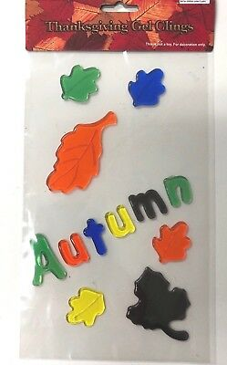 Autumn with leaves window Gel Cling classroom  Decor  oak maple - Fall Classroom Decorations