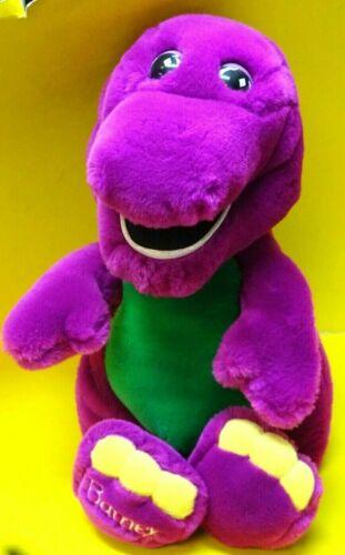 "Vintage Lyons Group 1990s 15"" Plush Stuffed Barney Lovey* Used,Nice Shape #2"