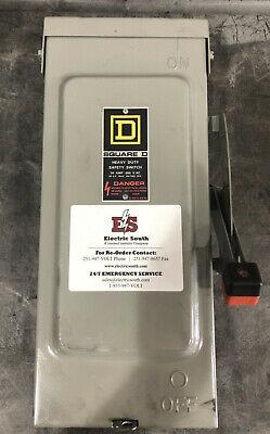 Square D Safety Switch Disconnect Hu361rb 30 Amp 600 Volt Non Fusible Nema 3r