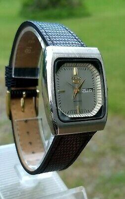 Vintage Seiko 17 Jewel Automatic Day And Date Men's Dress Wrist Watch.NOS band