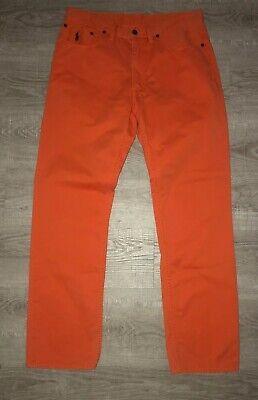 Polo Ralph Lauren Mens  Straight Fit Pants Orange Size 33x32