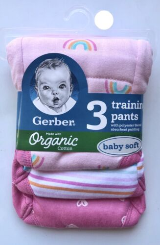 Gerber 3-Pack Organic Training Pants— Choose 2T or 3T and Choose Boy or Girl