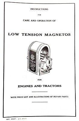 Ihc Low Tension Magnetos Manual Parts List Farmall Mccormick Hit N Miss Engine