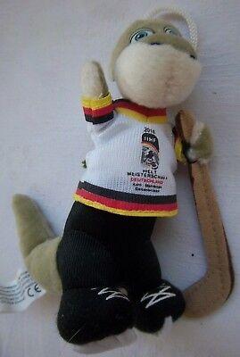 Orig.Maskottchen  Eishockey Weltmeisterschaft DEUTSCHLAND 2010 / 13 cm ! RARITÄT