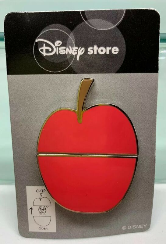 Japan Disney Store Chip Apple Slider Pin HTF Rare