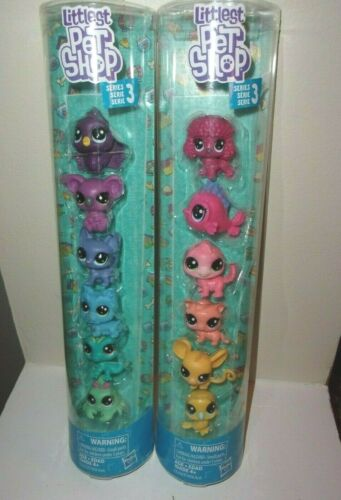 Littlest Pet Shop Series 3 / 2 Sets Of 6 Total Of 12 Mini Pets 1 1/2 Inch NEW