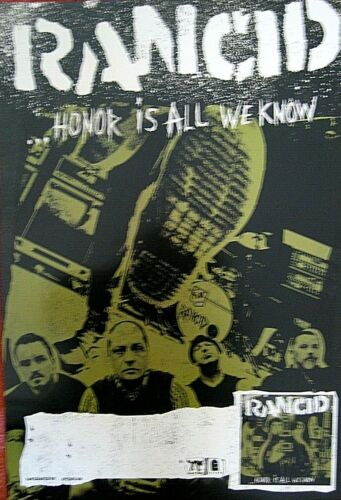 """RANCID Authentic Epitaph Honor Is All We Know Promo Poster 13"""" X 19"""""""