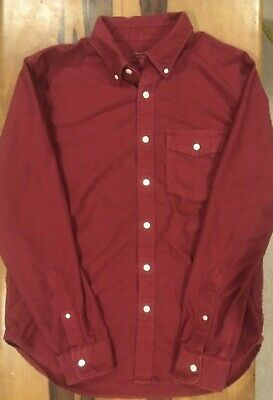 Abercrombie and Fitch mens red button down long sleeve casual shirt top xl