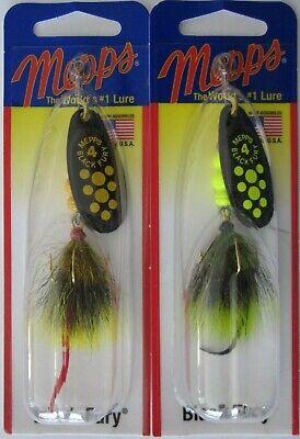 Mepps        Black Fury  #2         Chartreuse Dot Dressed Gray// Yellow
