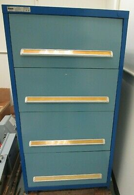 Stanley Vidmar Tool Storage Cabinet 30 W 59 H 4-drawer With Lots Of Dividers
