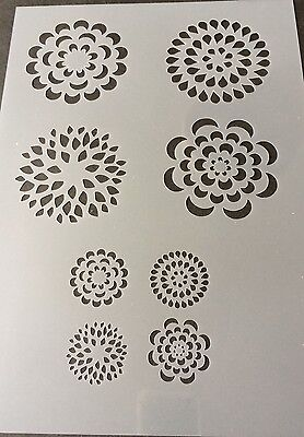 Flower Plant Patterns Mylar Reusable Stencil Airbrush Painting Art Craft DIY