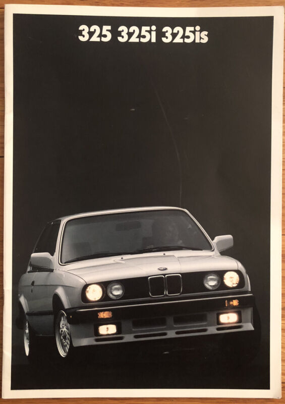 1987 BMW 3-Series Coupe 325 325i 325is E30 Brochure