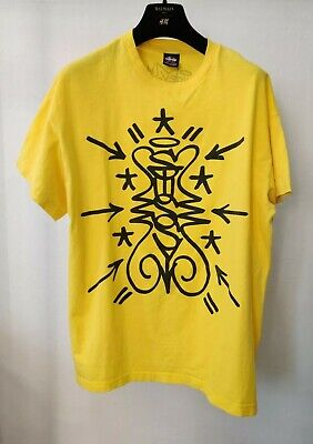 Stussy x Haze Men's Yellow T Shirt Size XL