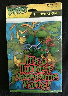 Teenage Mutant Ninja Turtle Turtle-y Awesome Party Invitations 8 Count - Ninja Turtle Party Invitations