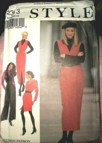 Style 2313 Pattern Wrap Front Dress Jumper Jumpsuit UNCUT Size 8-10-12-14-16-18