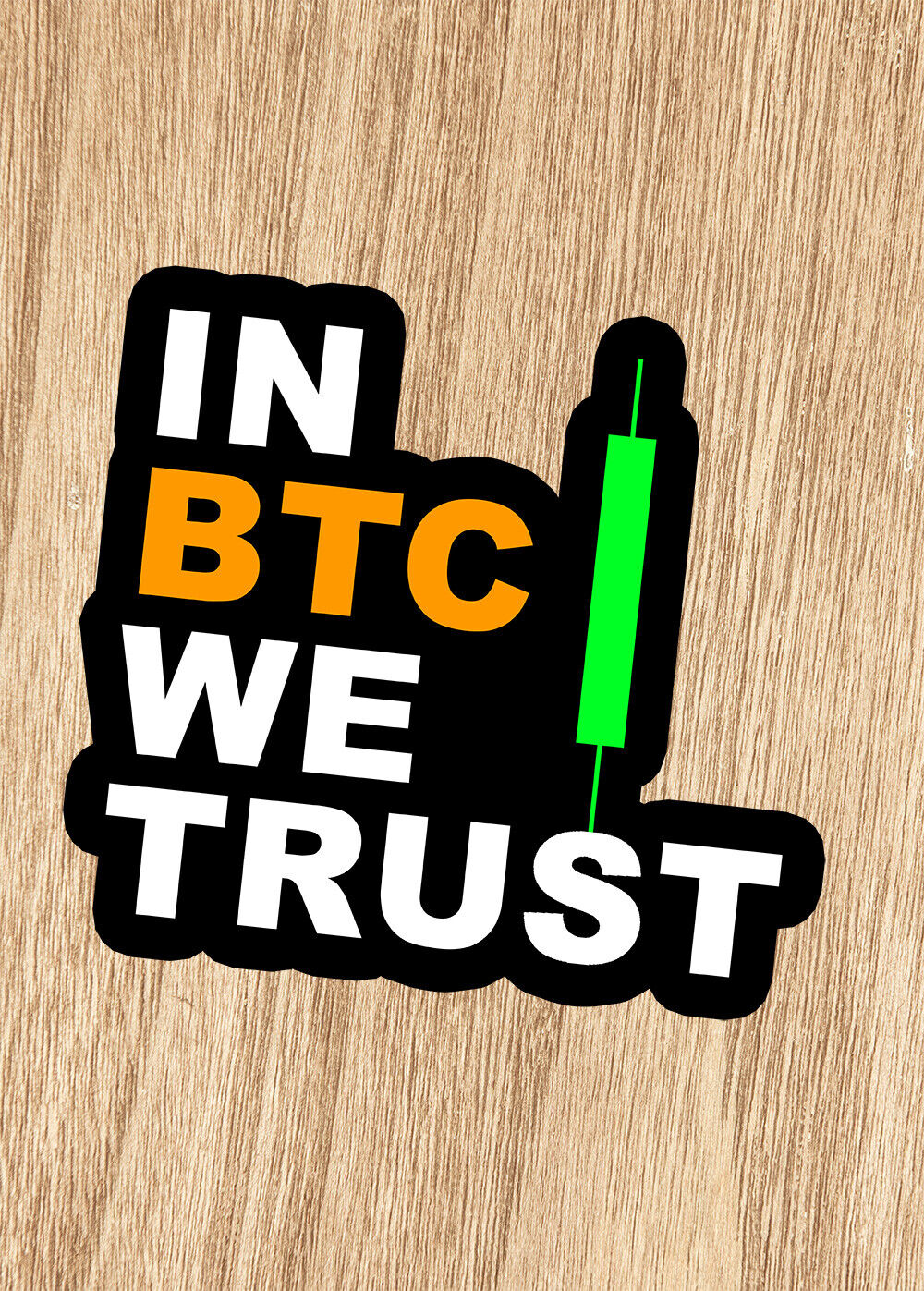 Home Decoration - In BTC We trust Bitcoin Candle Investor Vinyl Car Wall Laptop Sticker Crypto