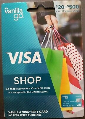 $500 VANILLA GO GIFT CARD. READY TO USE NO ADDITIONAL FEES INSURED SHIPPING
