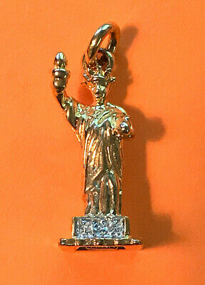 MEDA 925 Sterling Silver And CZ Statue Of Liberty Charm - $7.00