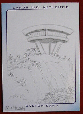 THUNDERBIRDS - PENCIL SKETCH CARD - THE CLIFF HOUSE by Jeremy McHugh - Cards Inc