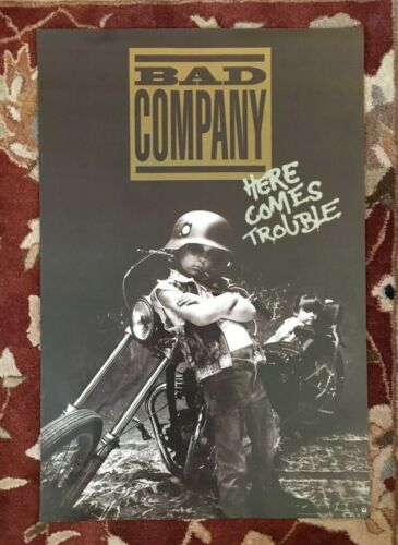 BAD COMPANY  Here Comes Trouble  rare original promotional poster from 1992
