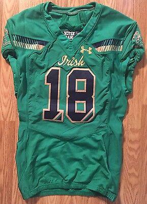 Notre Dame Football 2015 Shamrock Series Boston Game Used Jersey #18