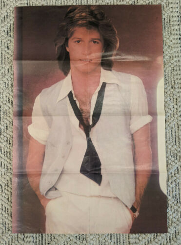 """Andy Gibb Original Vintage Poster Bee Gees 31"""" X 21"""" - Slightly Torn"""