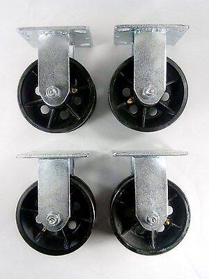 5 X 2 V-groove Caster - Rigid 4ea
