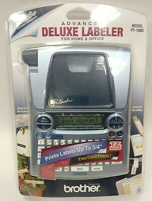 Brother P-touch Advanced Deluxe Labeler Home Office Label Maker Pt-1880