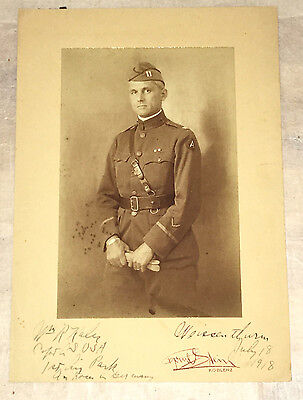 Mounted Photograph of Soldier, Capt. in US Army, in July 1918