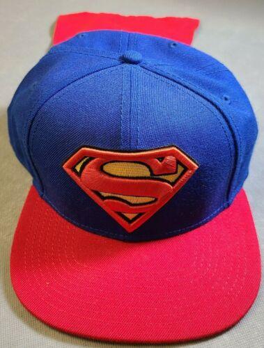 "DC Comics Superman Snap Back Adjustable ""Cape"" Hat Superman Logo Pre Owned"