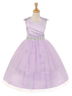 Tulle Skirt Flower Girl Dress Birthday Wedding Junior Bridesmaid Formal Recital](Tulle Skirt Flower Girl Dress)