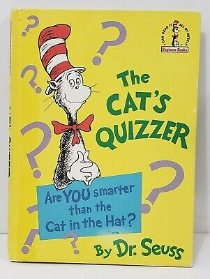 A TRUE FIRST EDITION The Cat's Quizzer By Dr Seuss. Random House 1976