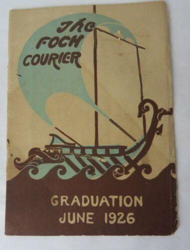 VTG 1926 Foch Intermediate School Detroit Foch Courier Graduation Booklet #11030