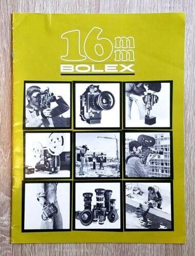 ORIGINAL BOLEX 16mm PPRODUCT BUYING GUIDE!  lenses brochure catalog Yvar Switar