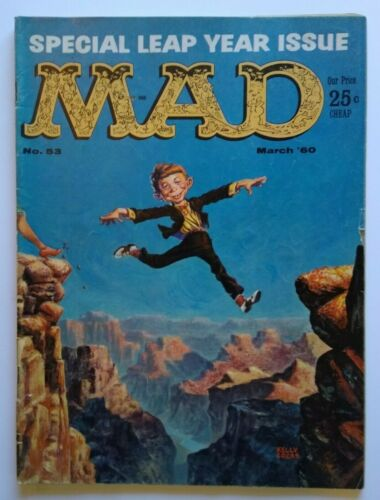 MAD Magazine Leap Year Issue March 1960 No 53 The Rifleman Movie Monsters Horror
