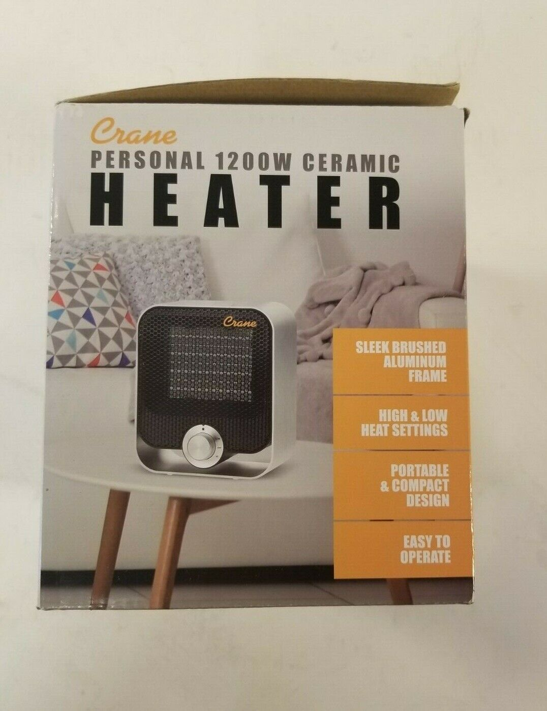 Crane 1200-Watt Compact Design Ceramic Space Heater Model #