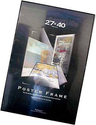 27x40 Movie Poster Frame Black Thin Profile Black Edges Quality Value