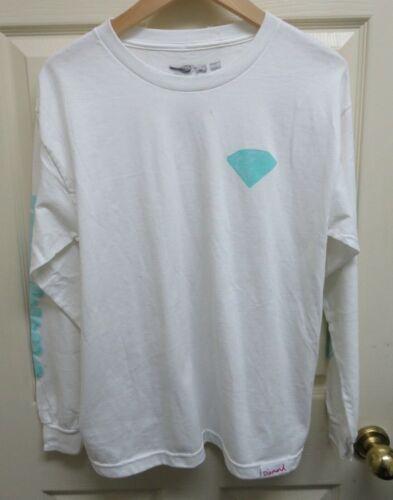 "Diamond Supply Co.''Bubbles""White w/Aqua Graphics Boys' XL T-Shirt NWOT"
