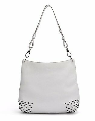Tod's Medium Borsa Hobo media Bag Gommino White - NEW-