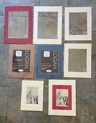 Lot Of 8 Picture Frame Mats Singles & Doubles 9