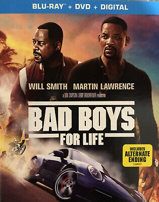 Bad Boys for Life (Blu-ray + DVD + Digital) Brand New W/Slipcover FREE SHIPPING
