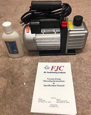 Brand New Electric Rotary Vane Vacuum Pump Single Stage 2.5cfm 15032804.
