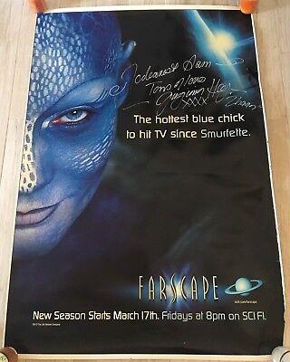 FARSCAPE HUGE 6 Foot Virginia Hey Zhaan Autographed Plastic Poster Banner Sci Fi