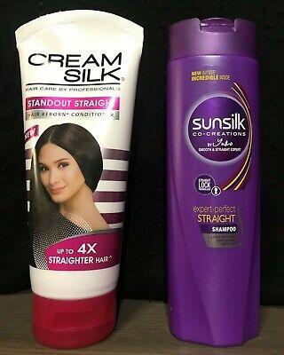 New SUNSILK + CREAM SILK Shampoo Conditioner Best Hair Straightening Combo (Best Shampoo And Conditioner Ever)