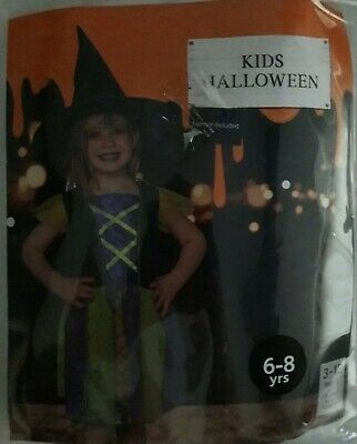 Witch Makeup For Kids (Kids Halloween Dress, Little Witch 6-8yrs, evil witch makeup kit & glitter)