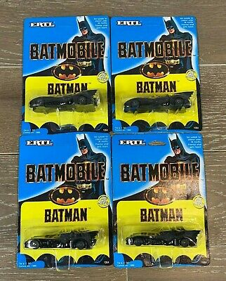 Vintage 1989 ERTL Batmobile Batman Die-Cast Metal Car Brand New - Lot of 4 Cars!
