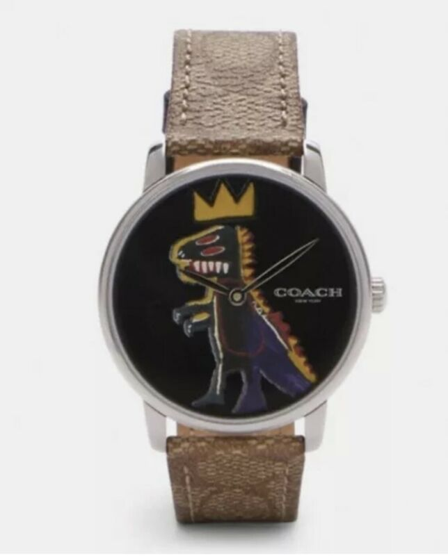 Authentic Coach x Jean-Michel Basquiat Rexy Limited Edition 40MM Grand Watch NWT